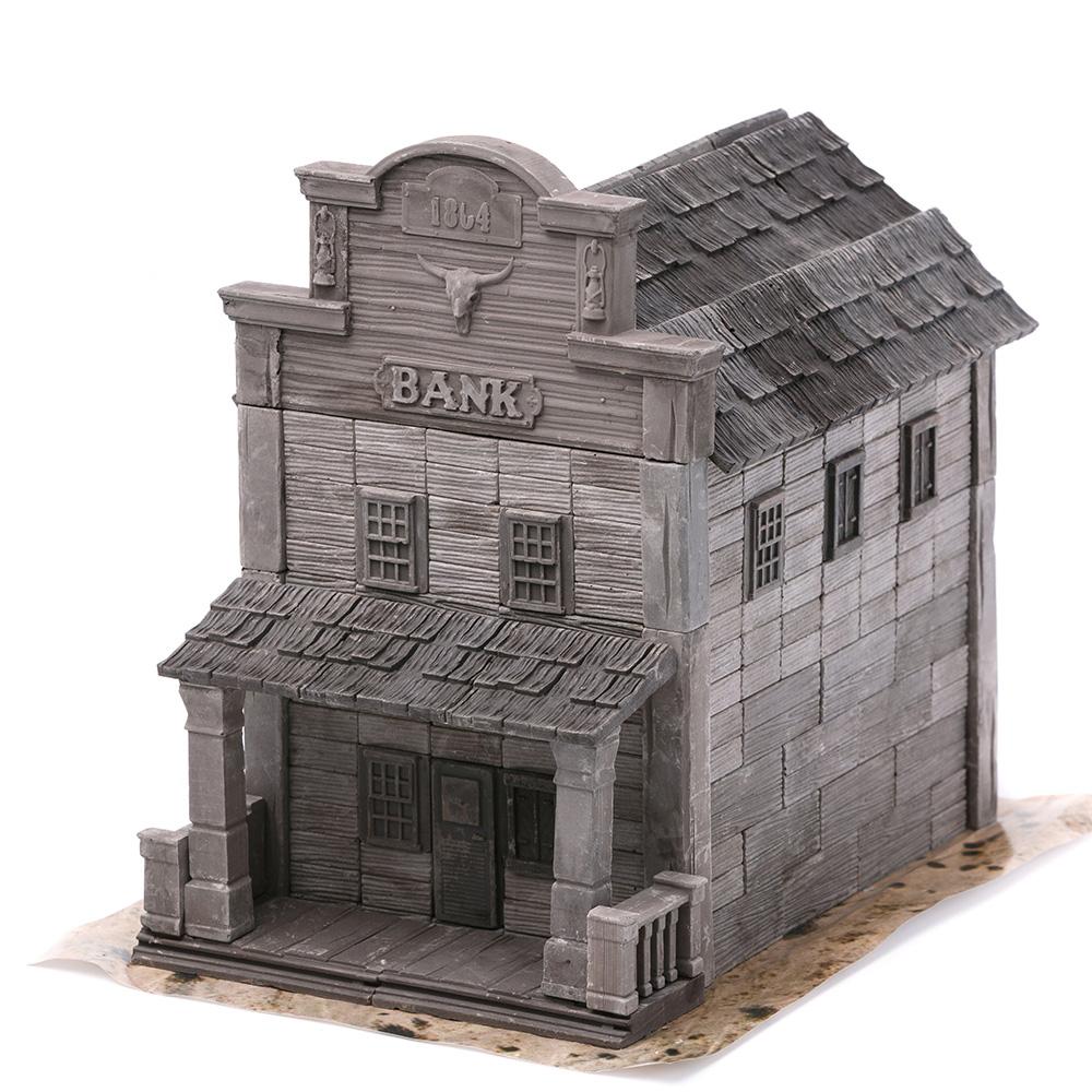 WISE ELK|天然陶瓷磚建築套裝 - 老西部銀行  240片