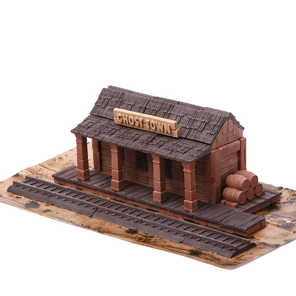 WISE ELK|天然陶瓷磚建築套裝 - 老西部車站