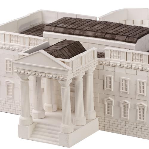 WISE ELK|天然陶瓷磚建築套裝 - 白宮 960片
