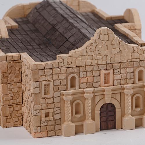 WISE ELK|天然陶瓷磚建築套裝 - 德州阿拉莫要塞 510片