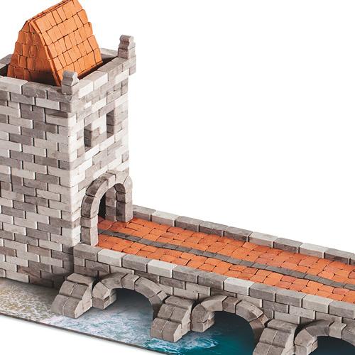 WISE ELK 天然陶瓷磚建築套裝 - 中世紀橋樑 1140片