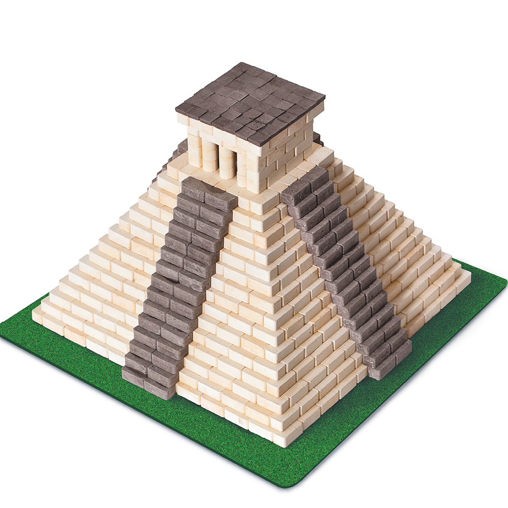 WISE ELK|天然陶瓷磚建築套裝 - 瑪雅金字塔 750片