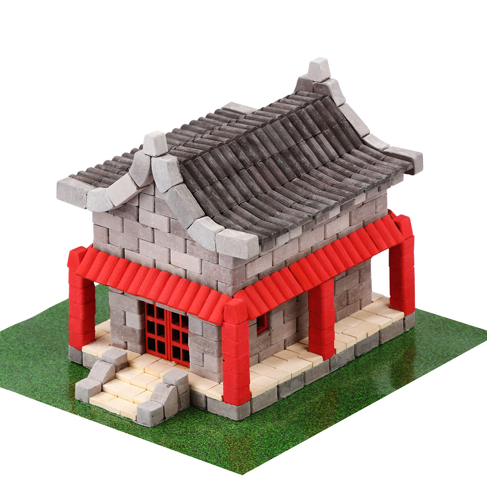 WISE ELK|天然陶瓷磚建築套裝 - 傳統小屋 600片