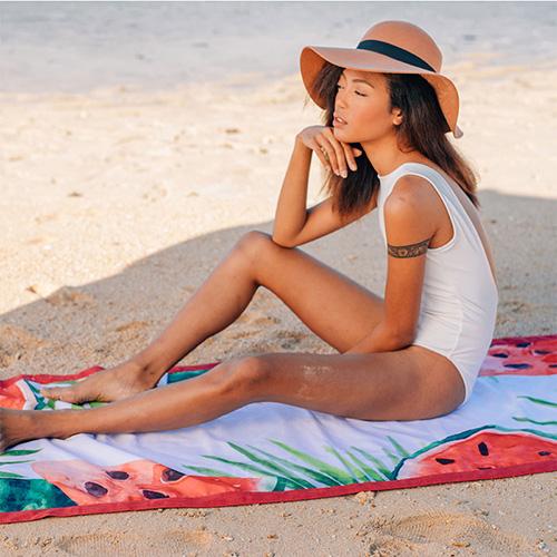 LAGU|沙灘專用快乾防沙毯 (西瓜)