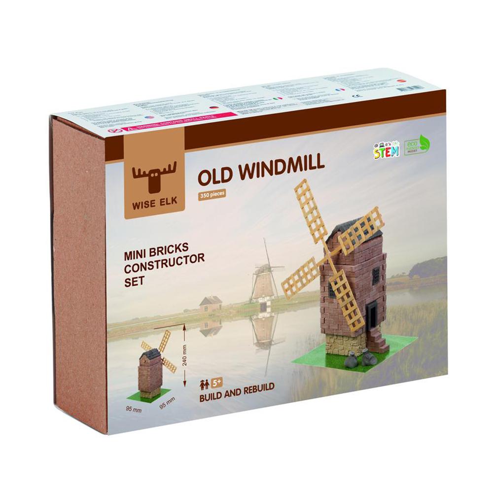 WISE ELK|天然陶瓷磚建築套裝 - 古老風車 350片