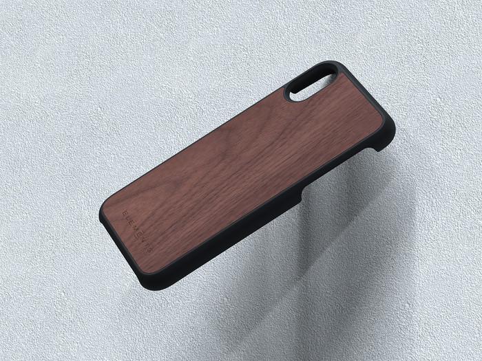 Nordic Elements|iPhone X/Xs /Xs Max /XR 北歐木材設計手機殼 ・Gefion (淺灰/楓木、深灰/核桃木)