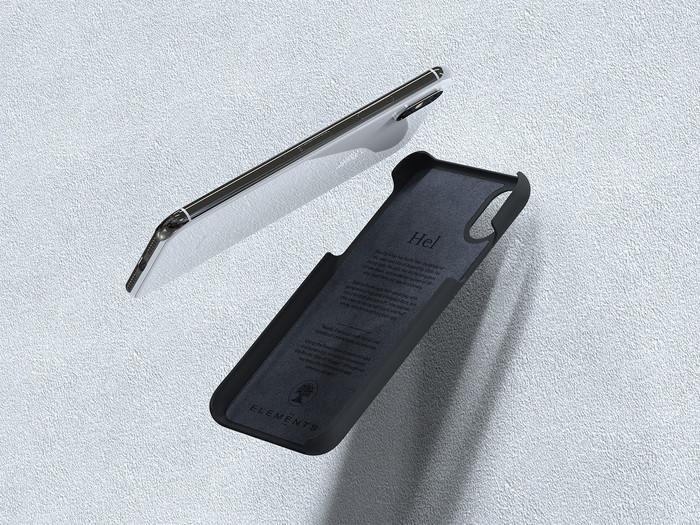 Nordic Elements iPhone 6 Plus/6s Plus/7 Plus/8 Plus 北歐雙材質設計手機殼 ・Hel (深灰/核桃)
