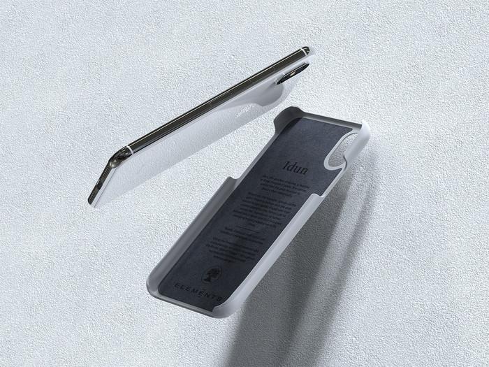Nordic Elements|iPhone X/Xs /Xs Max /XR 北歐布藝設計手機殼 ・Idun (米白灰、中性灰)