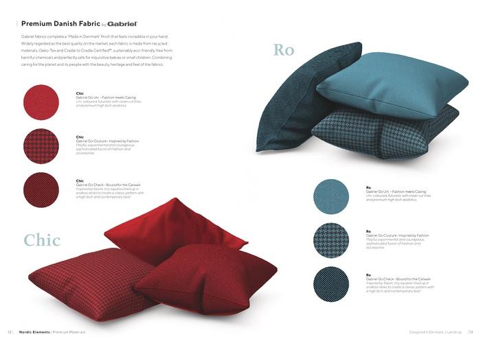 Nordic Elements|iPhone 北歐布藝設計手機殼・Idun (千鳥紋-經典/紅黑/藍綠)