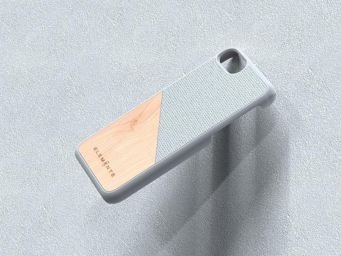 (複製)Nordic Elements iPhone 北歐雙材質設計手機殼・Hel (深灰核桃/淺灰楓木/灰楓木)