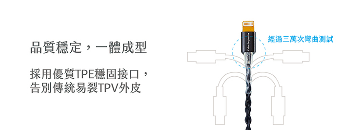 Crystal 韌意編|充電傳輸線 Lightning 1.2M・(閃耀銀)