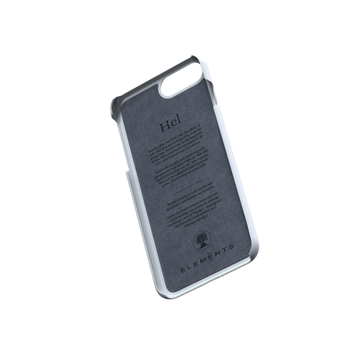 Nordic Elements iPhone 北歐雙材質設計手機殼・Hel (淺灰楓木)