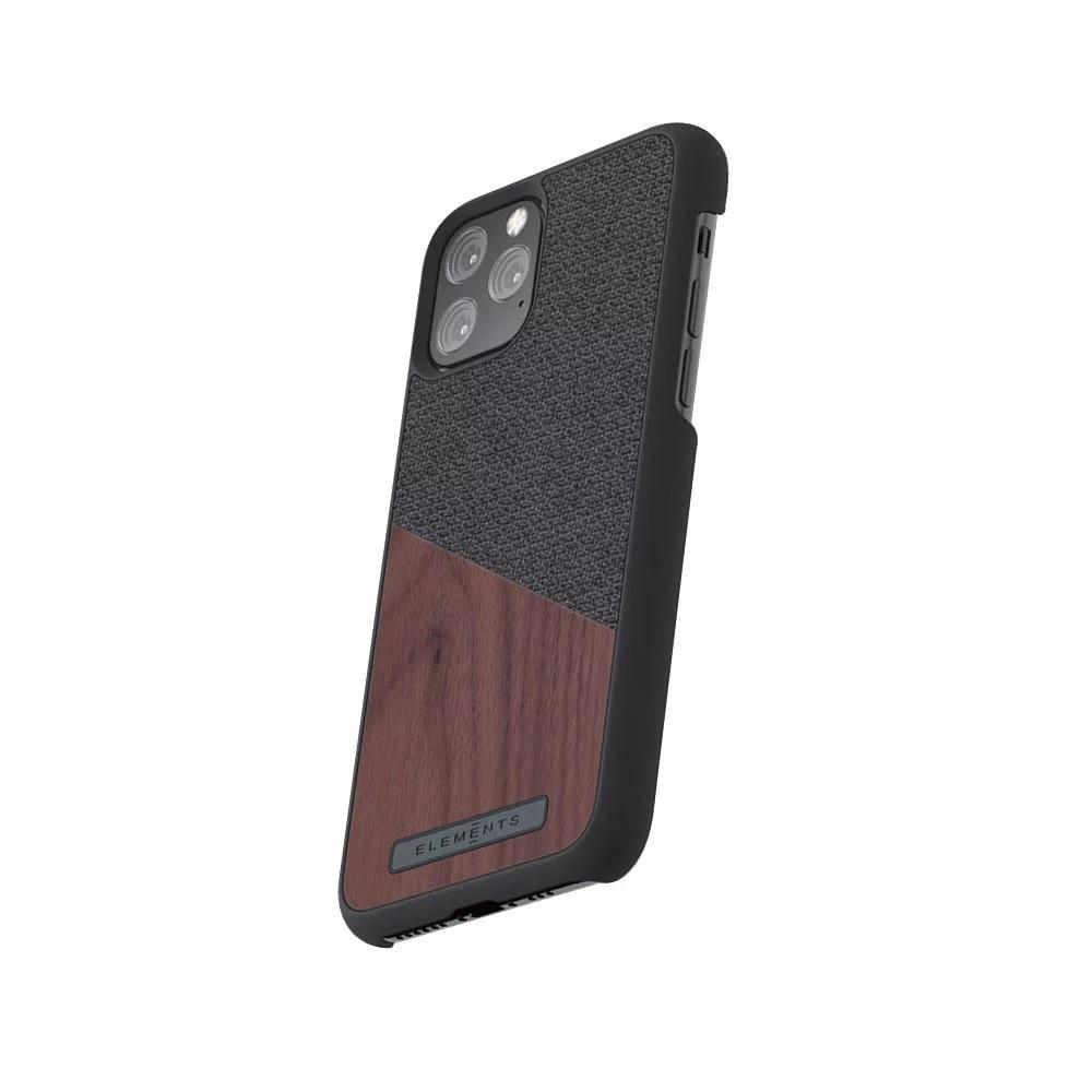 Nordic Elements iPhone 北歐雙材質設計手機殼・Frejr (深灰核桃)