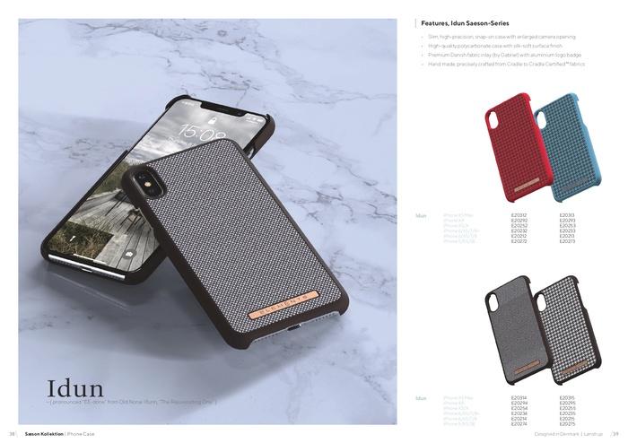 (複製)Nordic Elements|iPhone 北歐布藝設計手機殼・Idun (千鳥紋-經典/紅黑/藍綠)