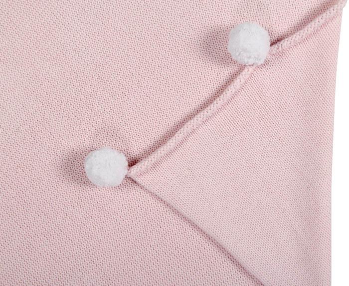 Lorena Canals|pompom毛球柔舒萬用被毯(杏桃粉)