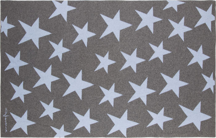 Lorena Canals|羊毛雙面蓋毯-搖滾星星(藍灰)