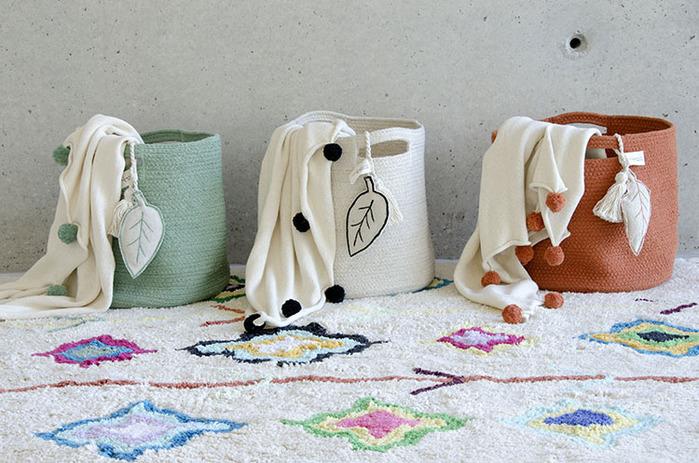 (複製)Lorena Canals pompom毛球柔舒萬用被毯(薄荷綠)