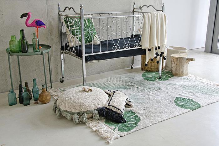 (複製)Lorena Canals 柔麗紡 Monstera葉形地毯