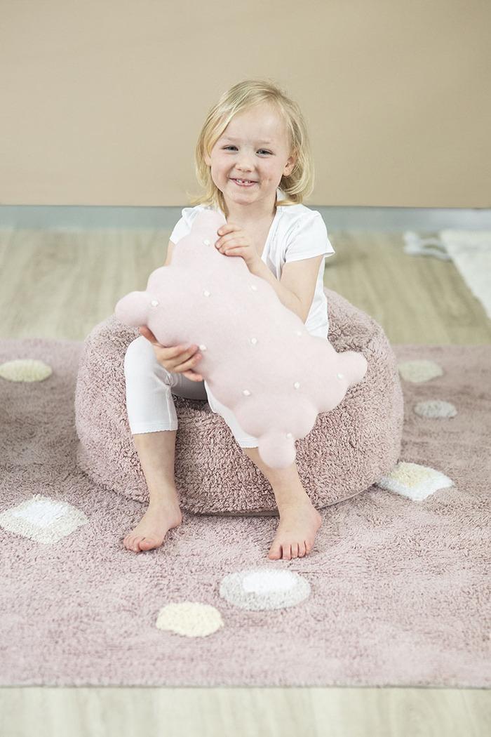 (複製)Lorena Canals 柔麗紡|甜餅乾小枕頭-牛奶白
