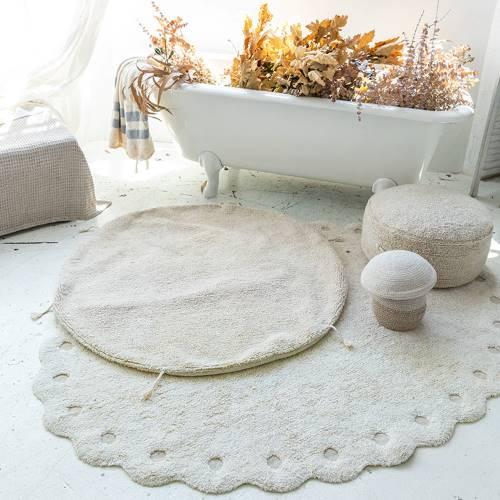 Lorena Canals 柔麗紡|小松毬地毯-月光白
