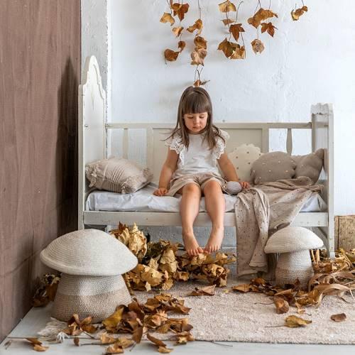 Lorena Canals 柔麗紡|蘑菇收納籃(大)