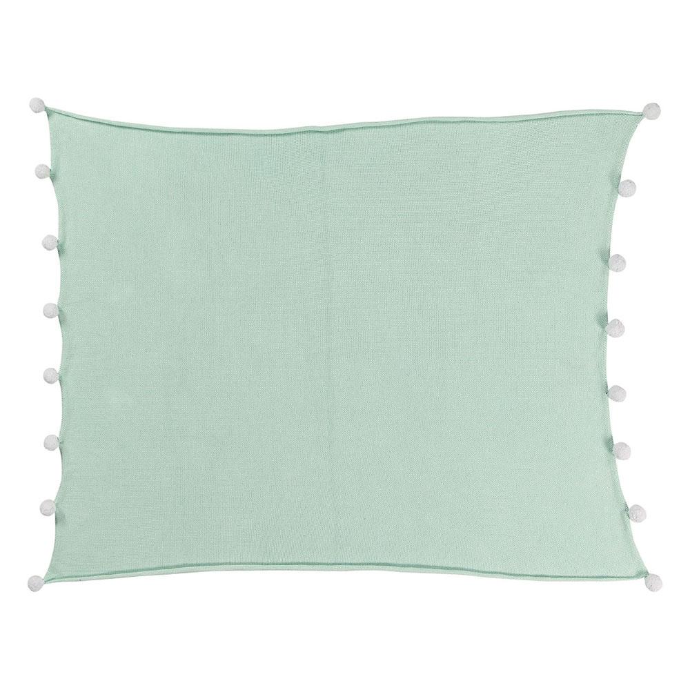 Lorena Canals 柔麗紡|pompom毛球柔舒萬用被毯(薄荷綠)