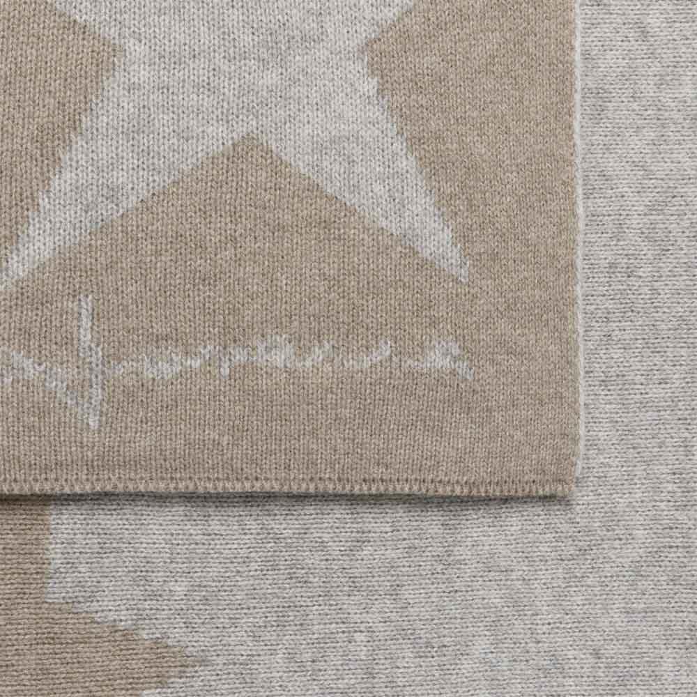 Lorena Canals 羊毛雙面蓋毯-搖滾星星(卡其)