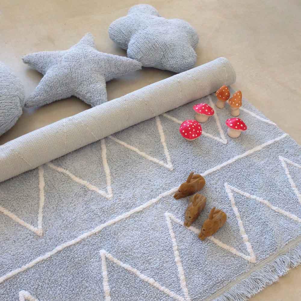 Lorena Canals 柔麗紡|棉花糖雲朵靠枕(藍)