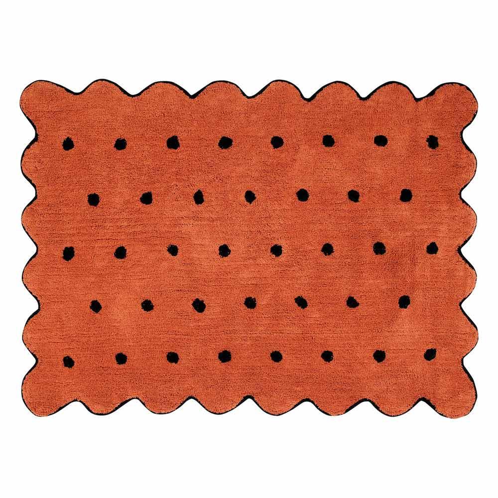 Lorena Canals 柔麗紡|比司吉花邊地毯(紅陶點點)