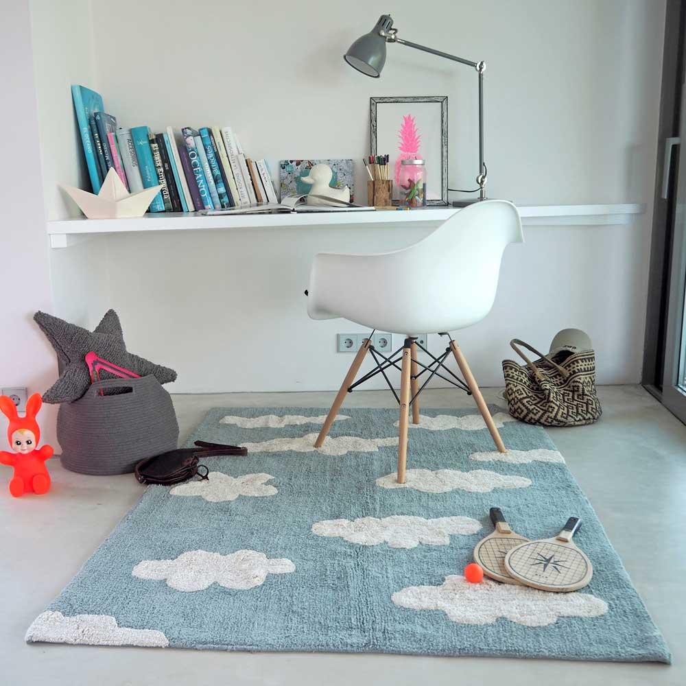 Lorena Canals 柔麗紡|雲朵糖霜地毯(復古藍)