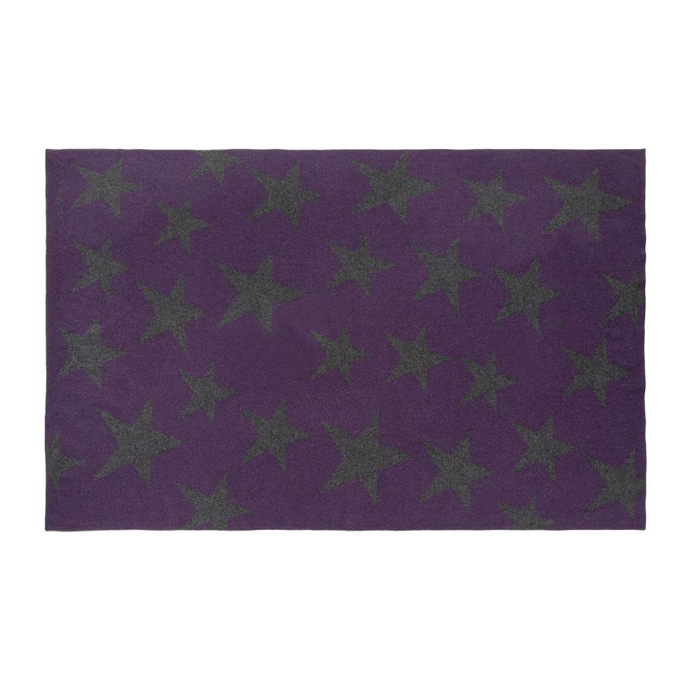 Lorena Canals|羊毛雙面蓋毯-搖滾星星(紫灰)