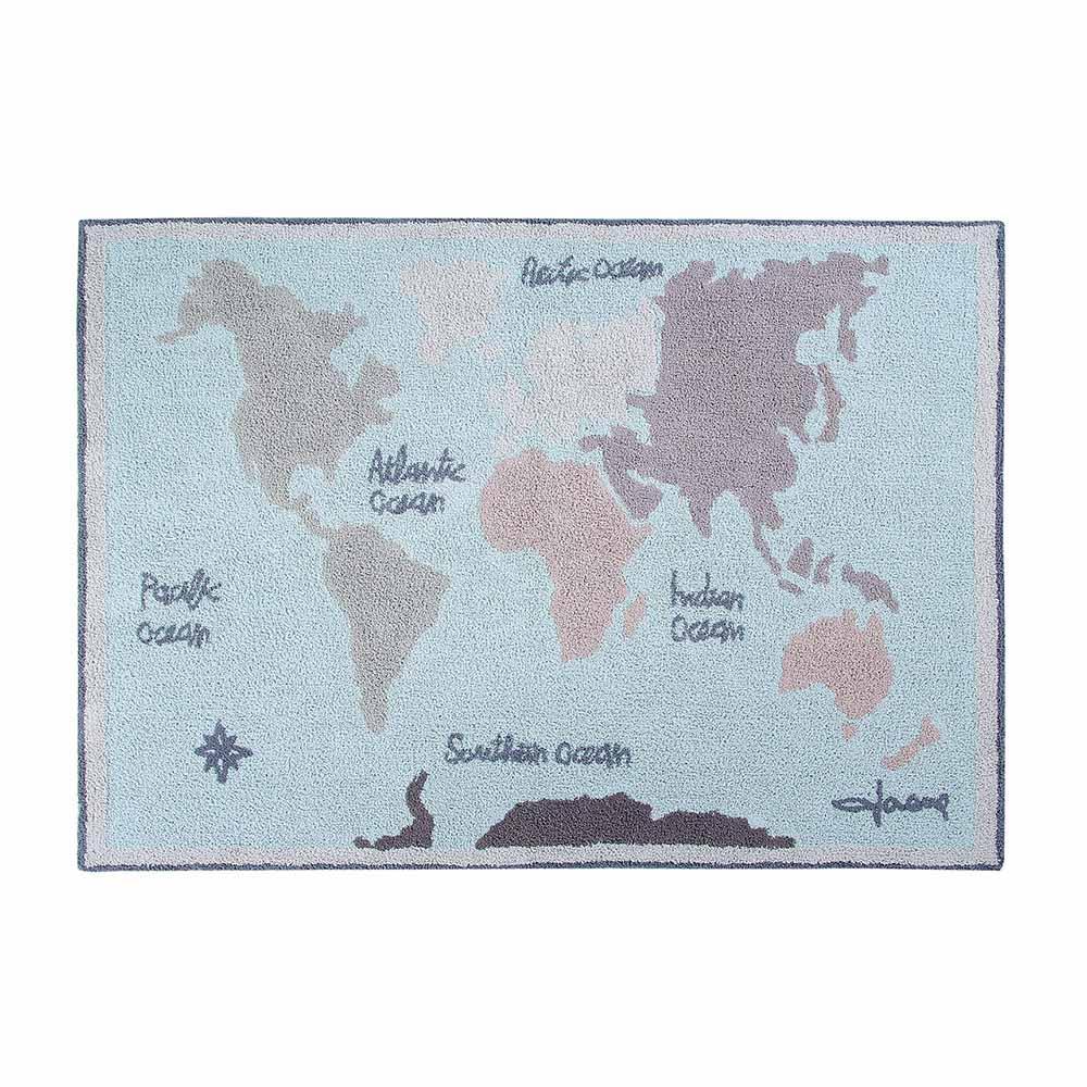 Lorena Canals 柔麗紡|校園時光地毯(復古地圖)