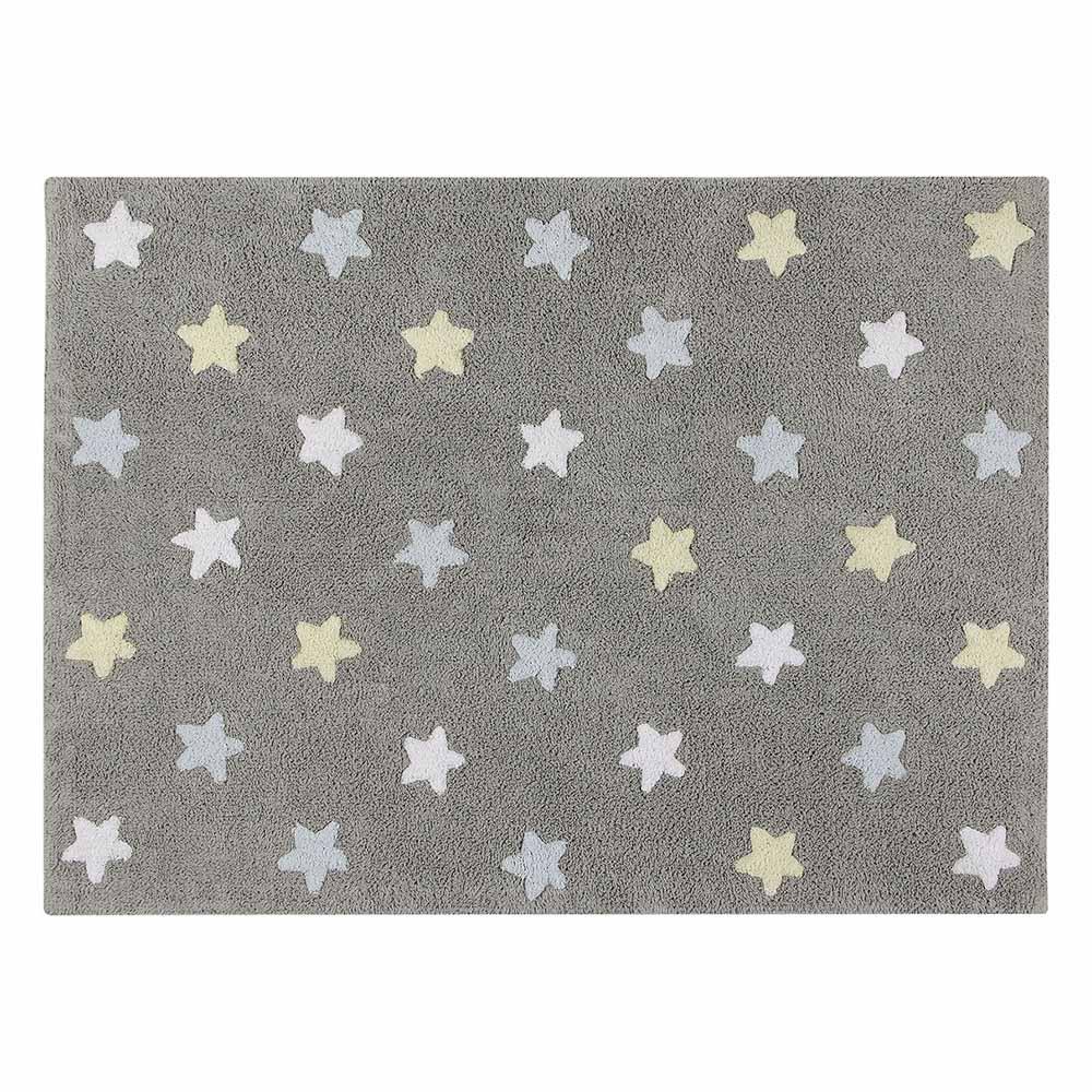 Lorena Canals 柔麗紡|小星星合奏曲地毯-銀河三色星(藍)