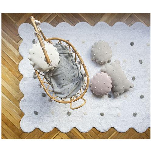 Lorena Canals 柔麗紡|曲奇餅小枕頭-莓果粉
