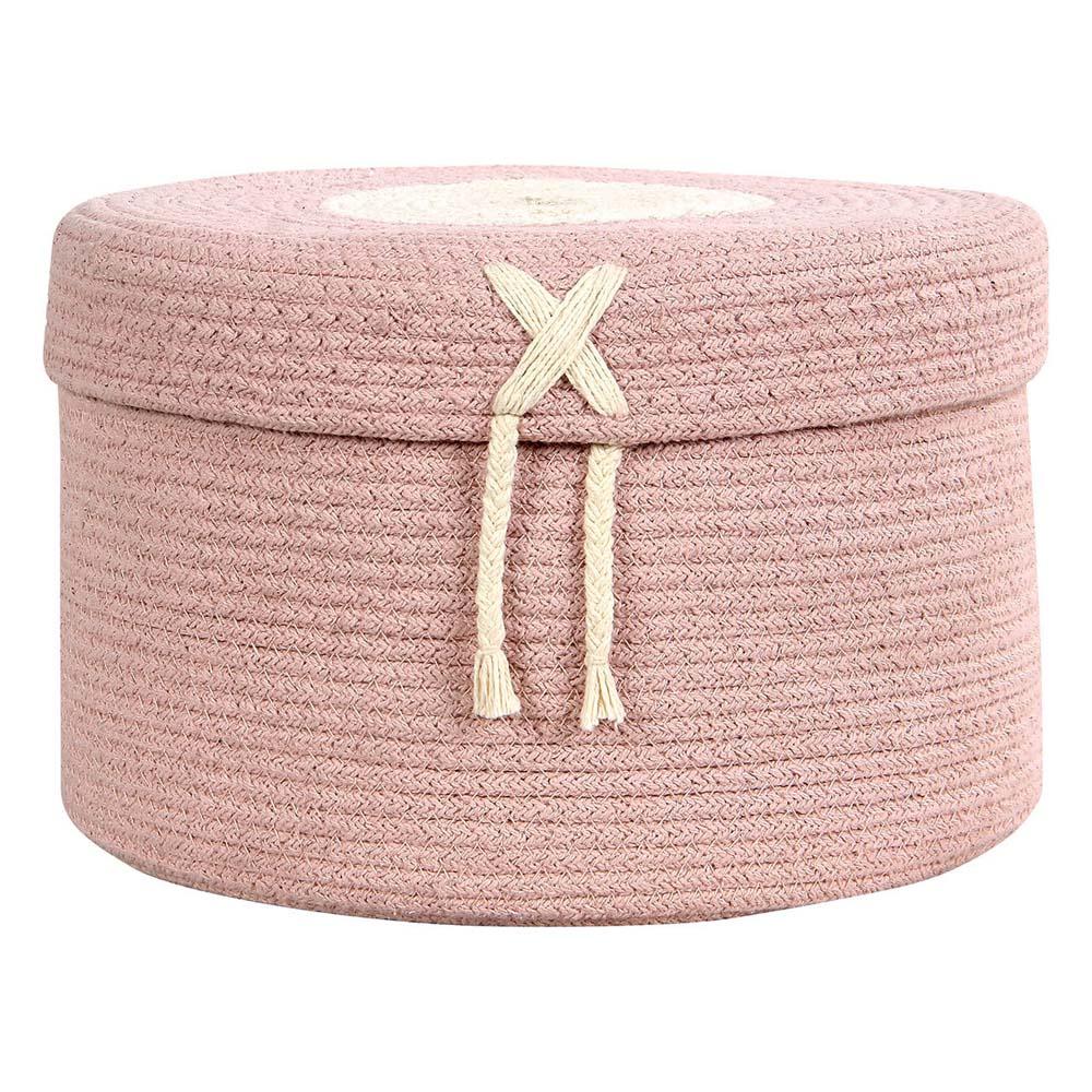 Lorena Canals 柔麗紡 糖果盒收納籃(大)-莓果粉