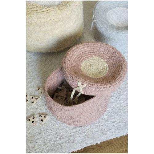Lorena Canals 柔麗紡|糖果盒收納籃(小)-莓果粉