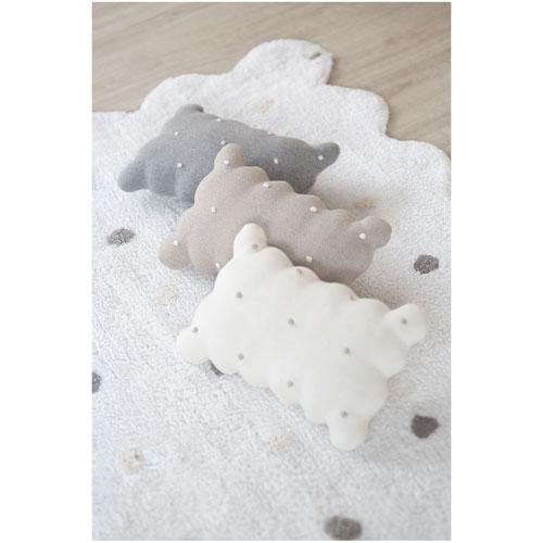Lorena Canals 柔麗紡|甜餅乾小枕頭-牛奶白