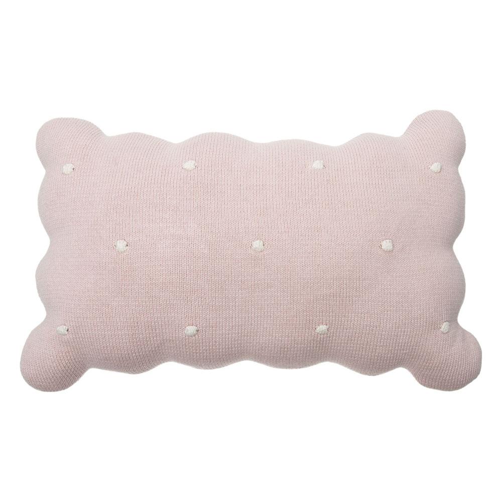 Lorena Canals 柔麗紡|甜餅乾小枕頭-莓果粉