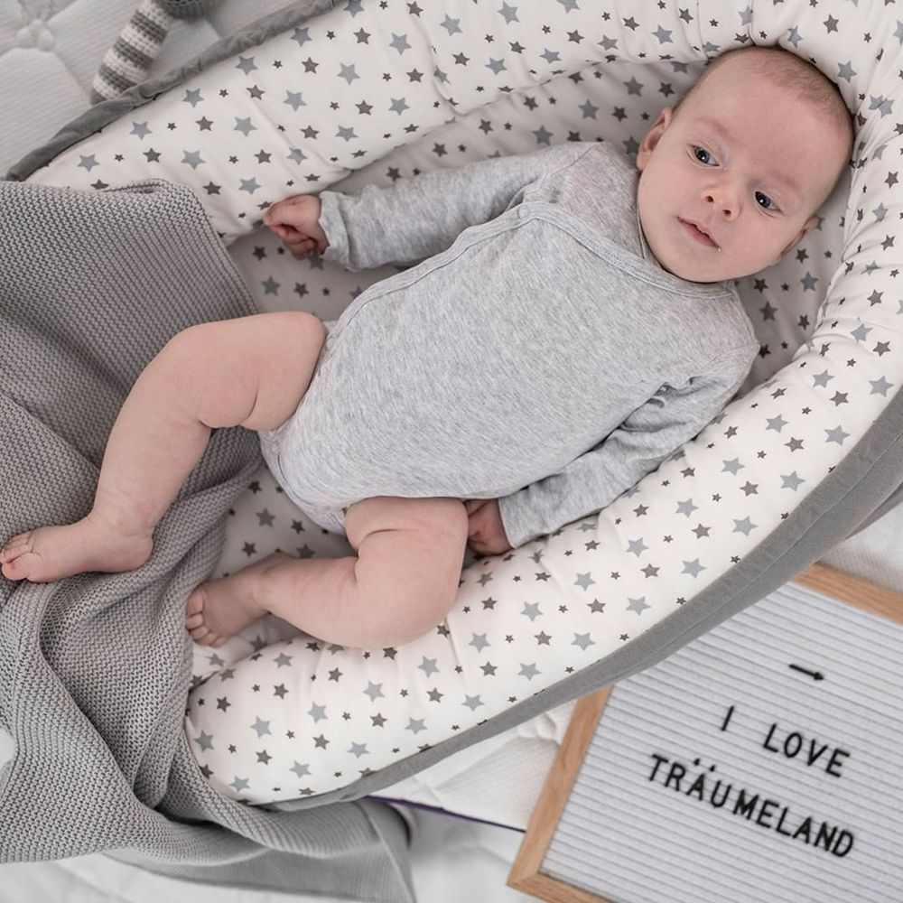奧地利璀夢地 Träumeland│安全感嬰兒睡窩-星空灰