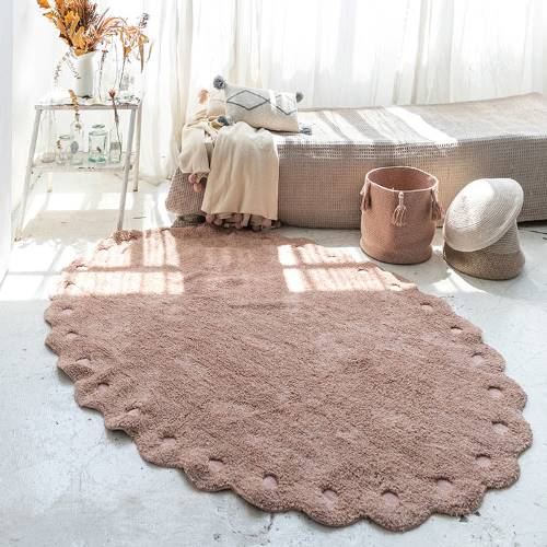 Lorena Canals|小松毬地毯-桃氣粉