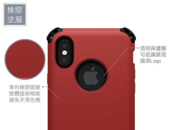 SEIDIO|軍規級四角防摔手機保護殼 for Apple iPhone X-DILEX(消光黑)