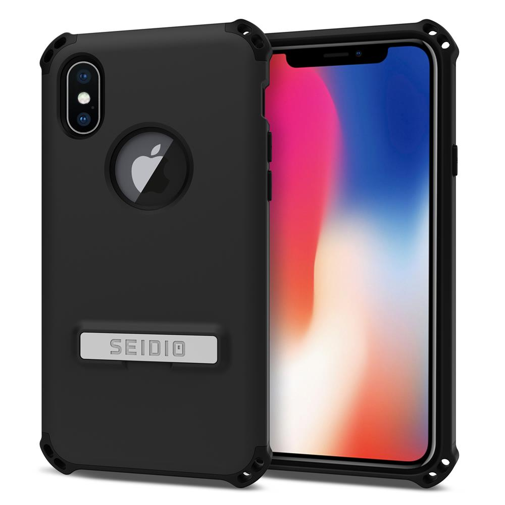 SEIDIO 軍規級四角防摔手機殼/保護殼 for Apple iPhone X-DILEX(消光黑)