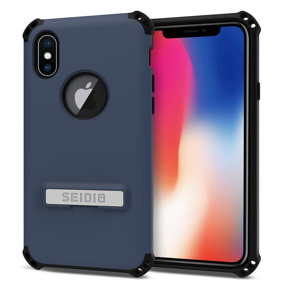 SEIDIO|軍規級四角防摔手機殼/保護殼 for Apple iPhone X-DILEX(暗夜藍)