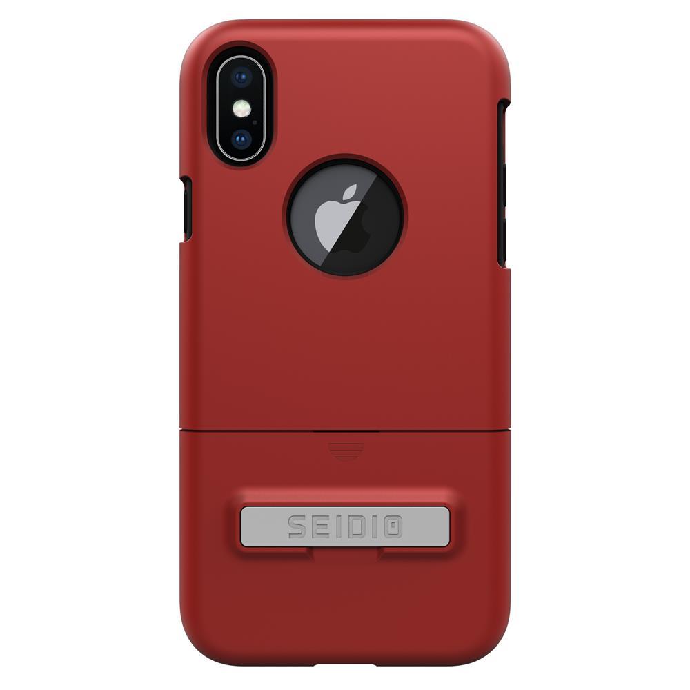 SEIDIO|都會時尚雙色手機殼/保護殼 for Apple iPhone X-SURFACE(熱情紅)