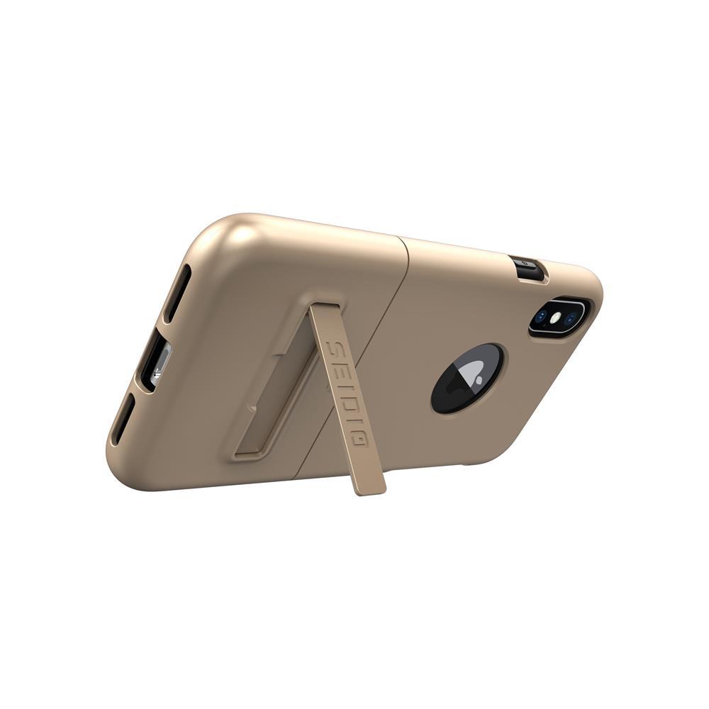 SEIDIO|都會時尚雙色手機殼/保護殼 for Apple iPhone X-SURFACE(時尚金)