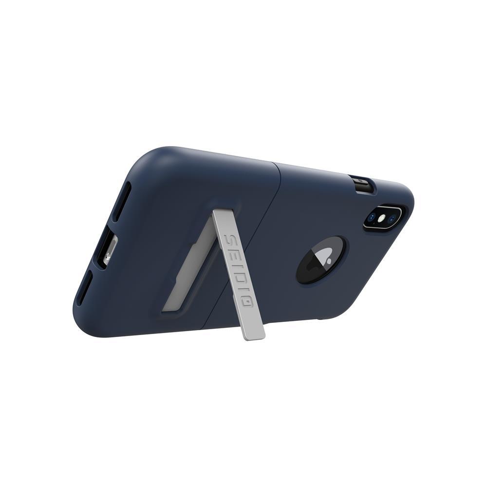 SEIDIO|都會時尚雙色手機殼/保護殼 for Apple iPhone X-SURFACE(暗夜藍)