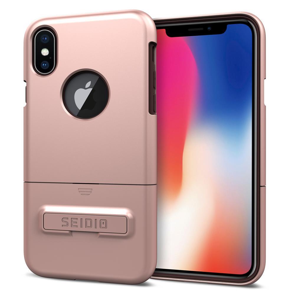 SEIDIO 都會時尚雙色手機殼/保護殼 for Apple iPhone X-SURFACE(玫瑰金)