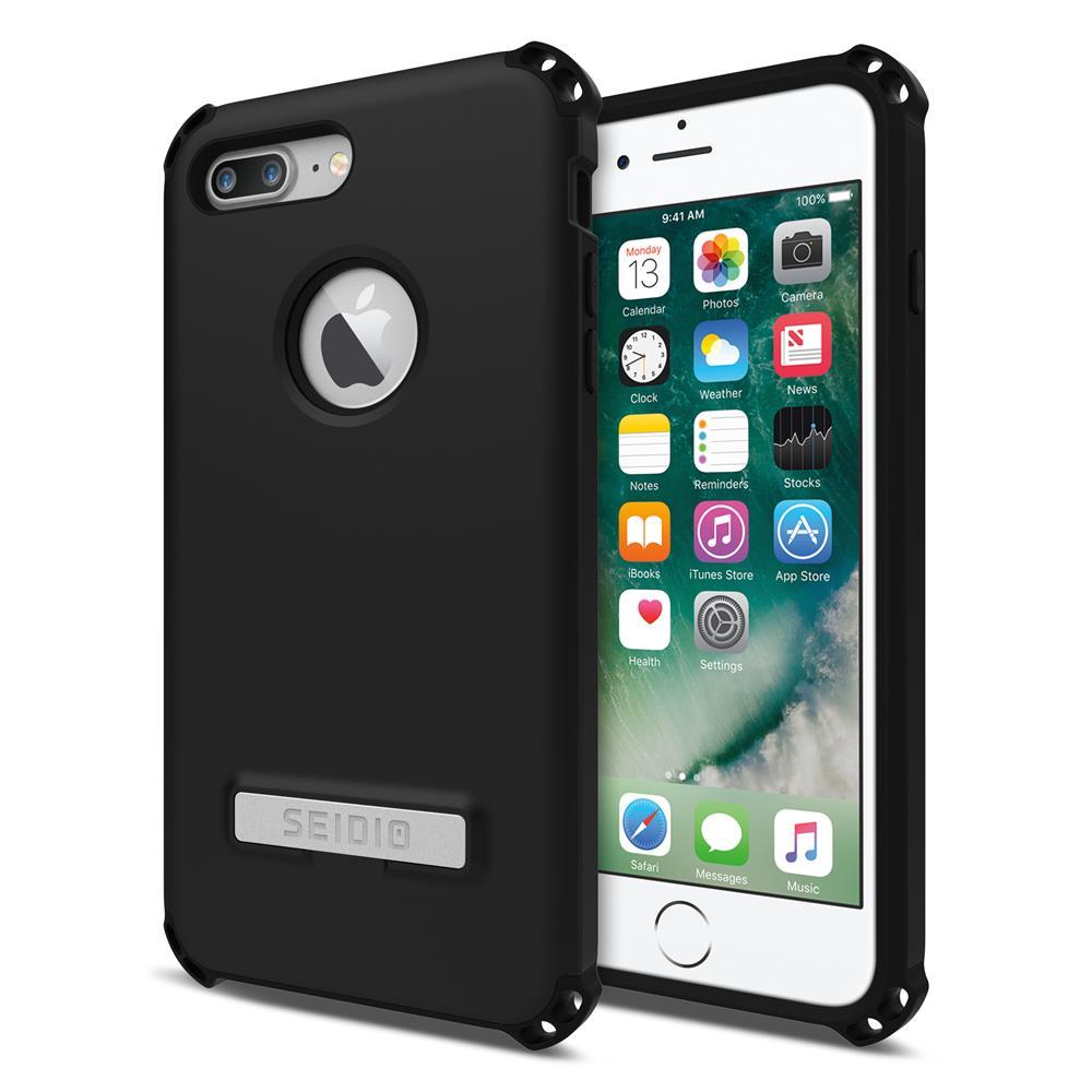 SEIDIO|軍規級四角防摔手機殼/保護殼 for Apple iPhone 7 Plus / 8 Plus-DILEX(消光黑)