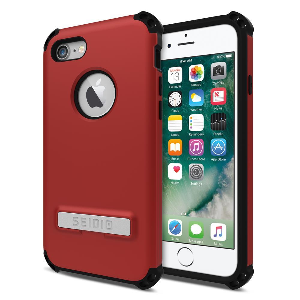 SEIDIO|軍規級四角防摔手機殼/保護殼 for Apple iPhone 7/8-DILEX(熱情紅)