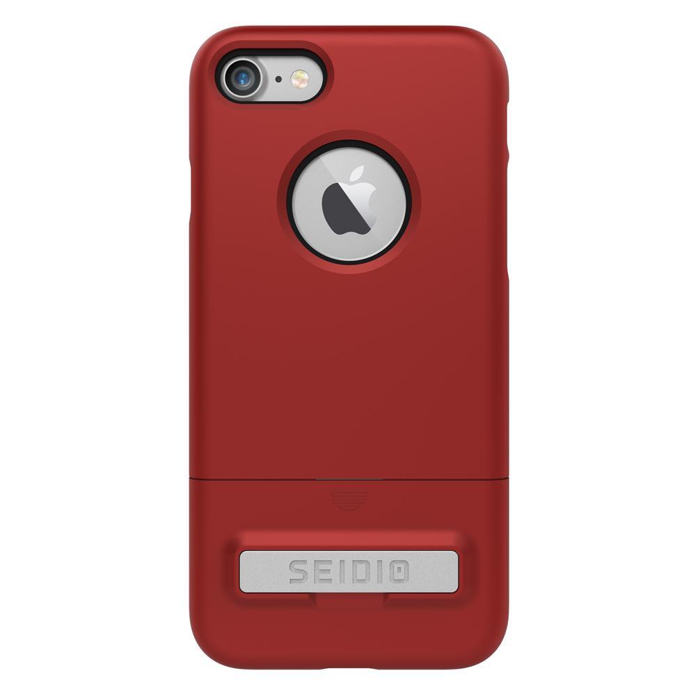 SEIDIO|都會時尚雙色手機殼/保護殼 for Apple iPhone 8-SURFACE(熱情紅)